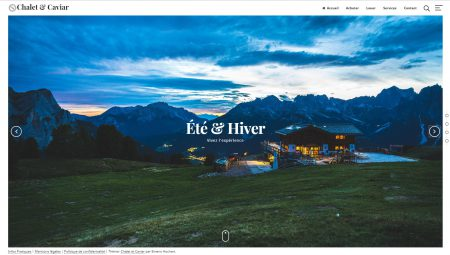 Wordpress : Chalet et Caviar
